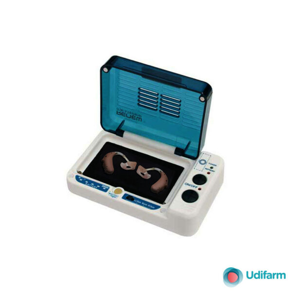Sterilizzatore a raggi UV e deumidificatore per apparecchi acustici modello DB-100
